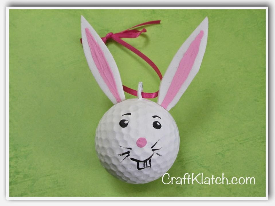 Craft Klatch ®: 30 Golf Ball Crafts DIY ~ Craft Klatch How To