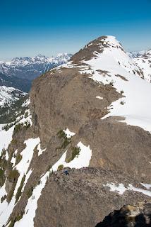 shot looking north from Alexandra Peak's long summit ridge