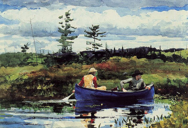 The Blue Boat, Winslow Homer, 1892