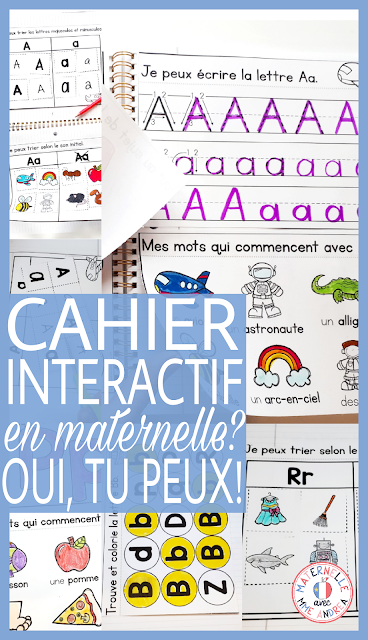 Have you seen interactive notebooks floating around on Pinterest and TPT and wished they would be possible for your French maternelle students? Good news - it can be done! Click here to read about how one teacher has successfully completed an interactive alphabet notebook in French with her kindergarten students. Free sample for you to try!