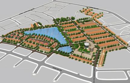 Mô hình dự án khu nhà ở Bắc Sơn- Sông Hồng