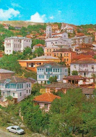Greetings from Krusevo city - color postcard - date - 1970-80s