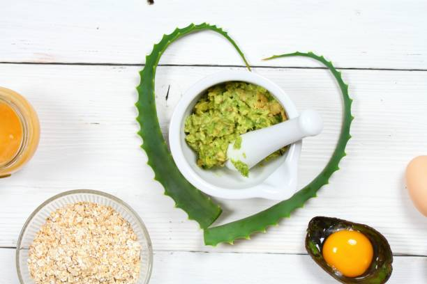 Oat and avocado face mask