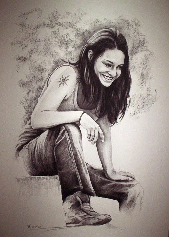 Frauenporträt zeichnen vom Foto Porträt bestellen