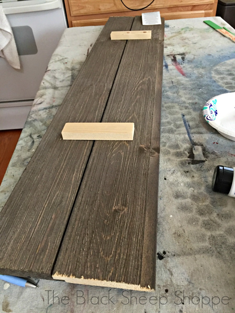 Barn wood pieces joined together