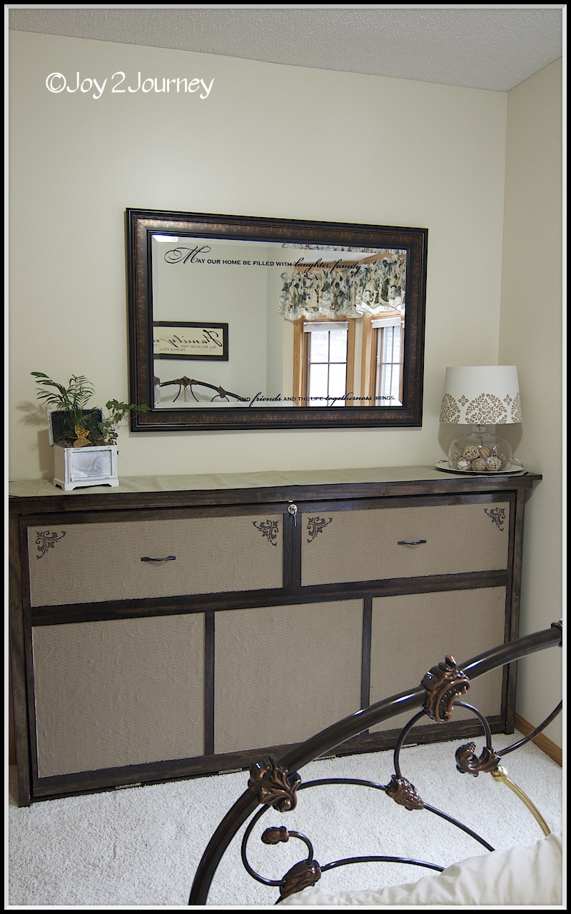Remodelaholic How To Build Faux Dresser Murphy Bed Diy