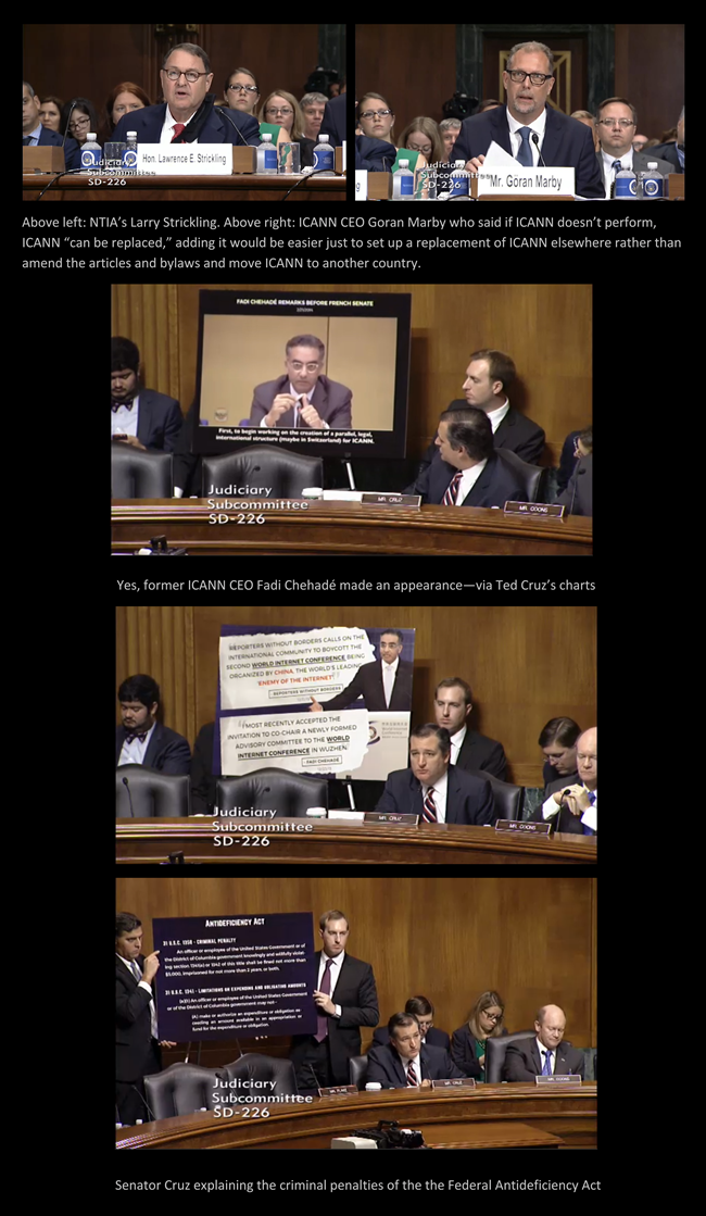 Photos from Cruz Senate Subcommittee Hearing Sept 14, 2016 | DomainMondo.com