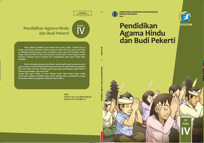 Download Gratis Buku Siswa Pendidikan Agama Hindu Dan Budi Pekerti Kelas 4 SD Kurikulum 2013 Format PDF