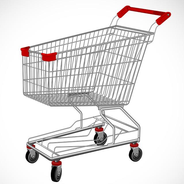 Troli Belanja Minimarket Tray