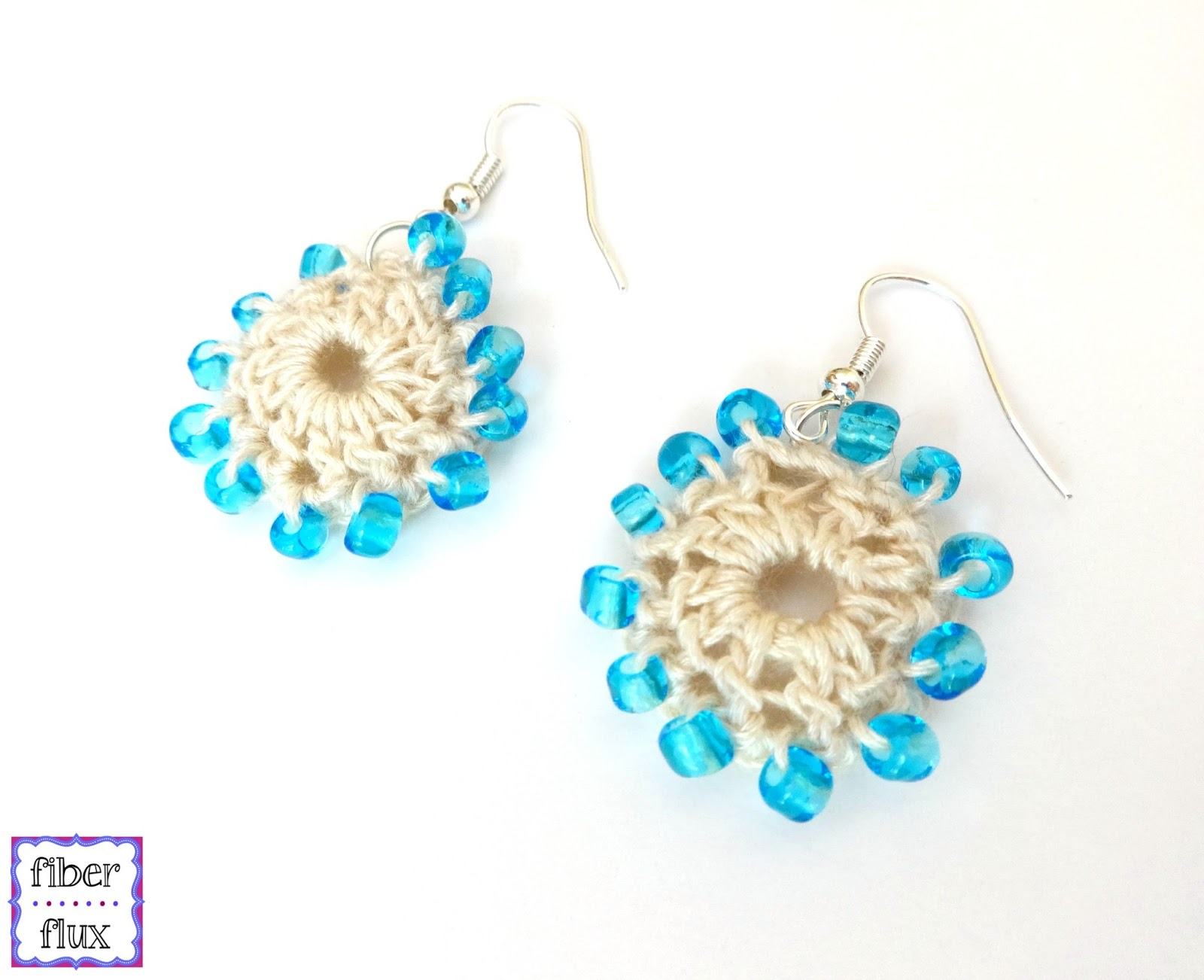 pattern free crochet patternbeach beach flux earrings fiber wedding