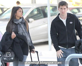 Lionel Messi and his Girlfriend