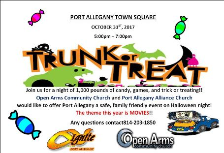 "10-31 Open Arms Port Allegany ""Trunk or Treat"""