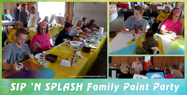 Annie Lang shares photos from her Sip and Splash Paint Party.  Find the art used for these projects at https://creativemarket.com/annielang/1599068-Annies-In-the-Moods-Clipart?u=annielang
