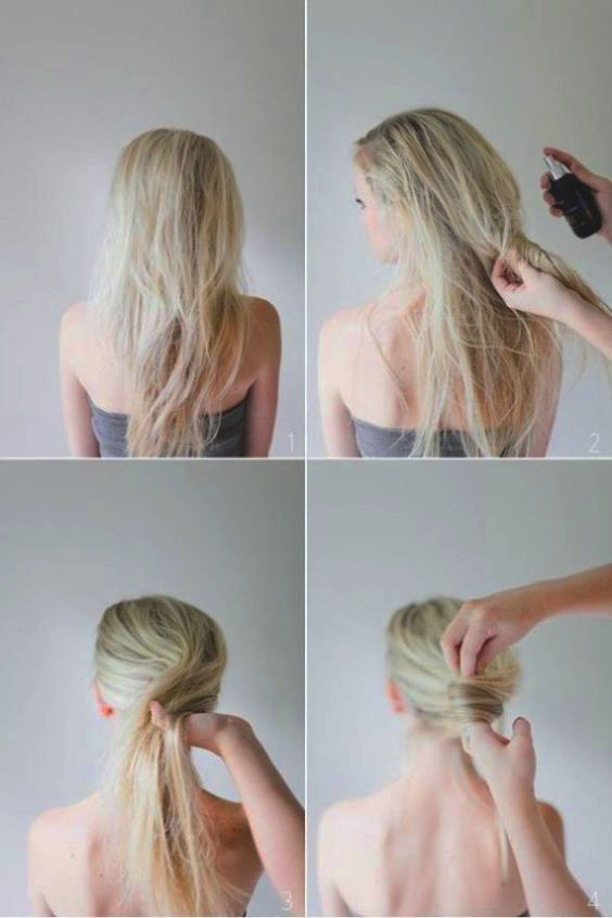 DIY Hair Bun Step by Step