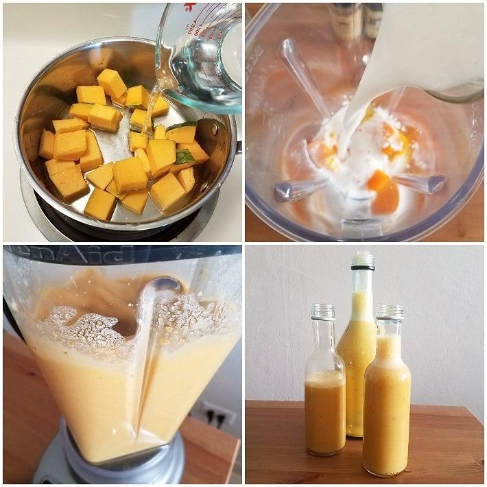 Cómo hacer ponche de calabaza y coco sin alcohol en 4 pasos