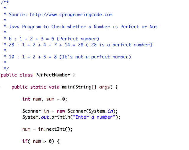 Java Program to Check Perfect Number