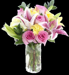 Vaso de rosa e orquídea