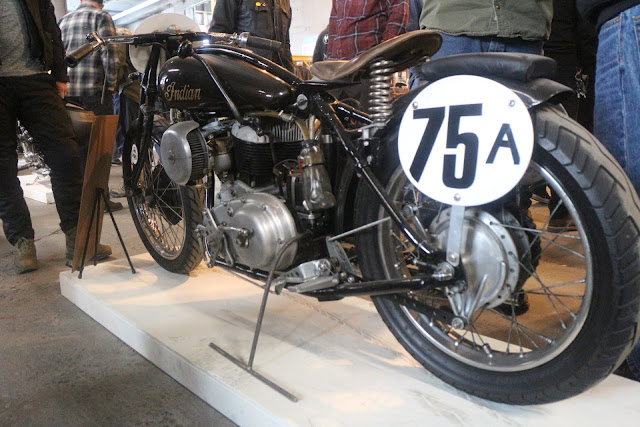 the one moto show number 9 custo indian motorcycle