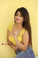 Cute Telugu Actress Shunaya Solanki High Definition Spicy Pos in Yellow Top and Skirt  0216.JPG