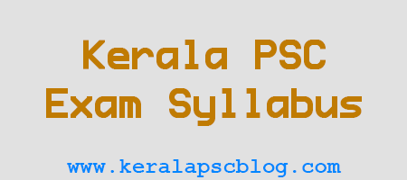 Kerala PSC Overseer Civil Grade 2 Exam Syllabus 2014