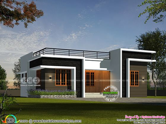 Single floor house design by MyHome LiveDesign from Thrissur