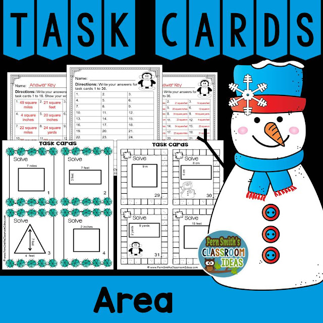 https://www.teacherspayteachers.com/Product/Area-Task-Cards-2455339