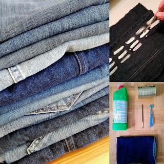 jak zrobić wzory na jeansie