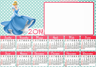 calendario cinderela 2014 para imprimir