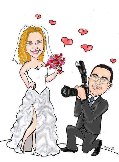 caricatura online noivos