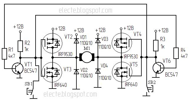 Irf9530 схема включения