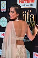 Prajna Actress in backless Cream Choli and transparent saree at IIFA Utsavam Awards 2017 0023.JPG