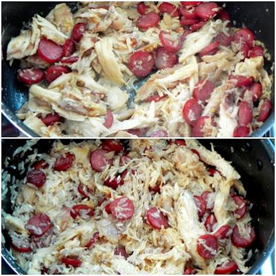 receita de arroz com calabresa frango e cenoura