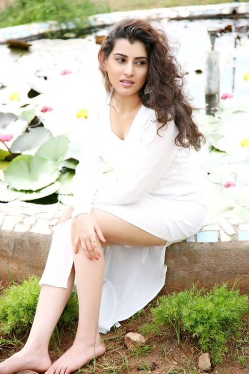 Archana Veda latest Photo Shoot Stills In White Dress