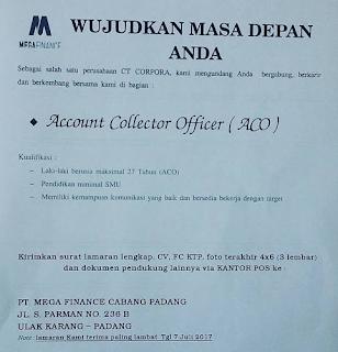 Lowongan Kerja PT. Mega Finance Indonesia
