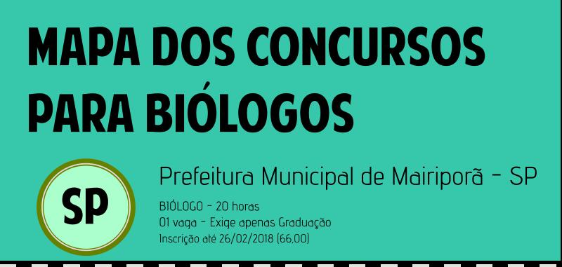 Concurso para Biólogo em São Paulo; Vaga para Biólogo; Biólogo