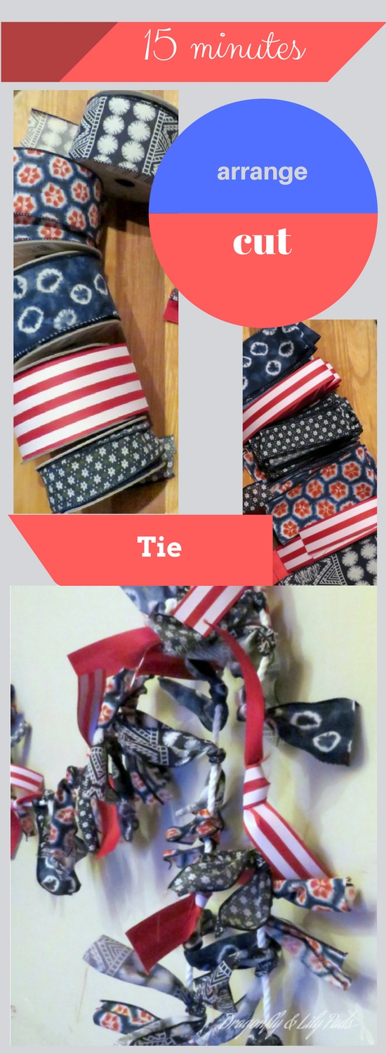 Pinnable image for 15 minute Red white and blue decorating