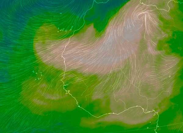 Canarias escapa de una muy fuerte calima y vientos, marzo 2019