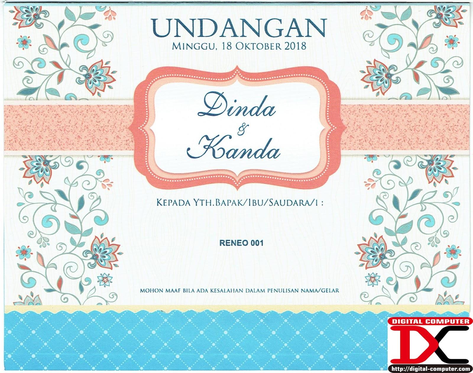 kartu undangan pernikahan, undangan pernikahan softcover, undangan pernikahan harga 2000an rupiah