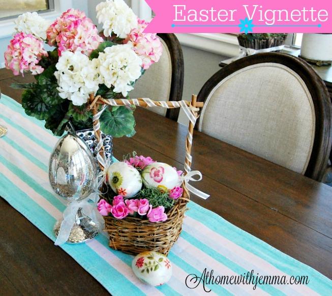 Easter-Spring-Homemaking-Decorating-Vignette-Mercury-Eggs