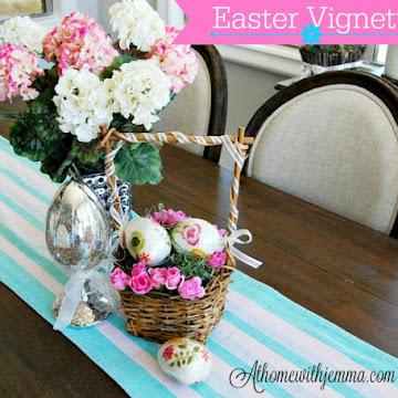 Easter Vignette & Mercury Eggs
