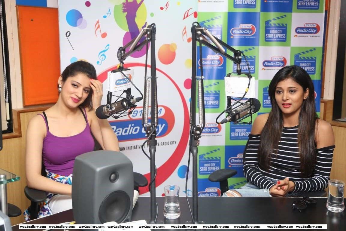 Our shutterbug caught Sushma Raj and Richa Panai at a promotional event for Telugu film Edu Gold Ehe