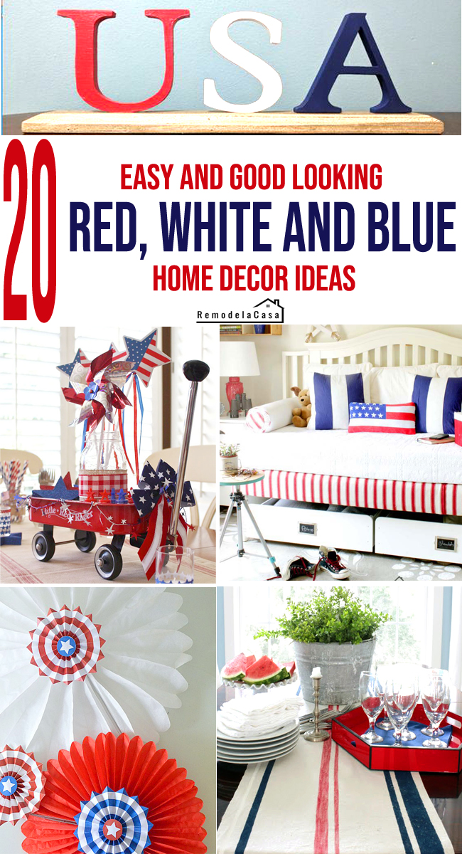 Easy DIY patriotic home decor ideas