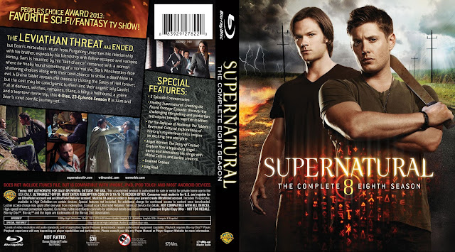Supernatural Season 8 Bluray Cover