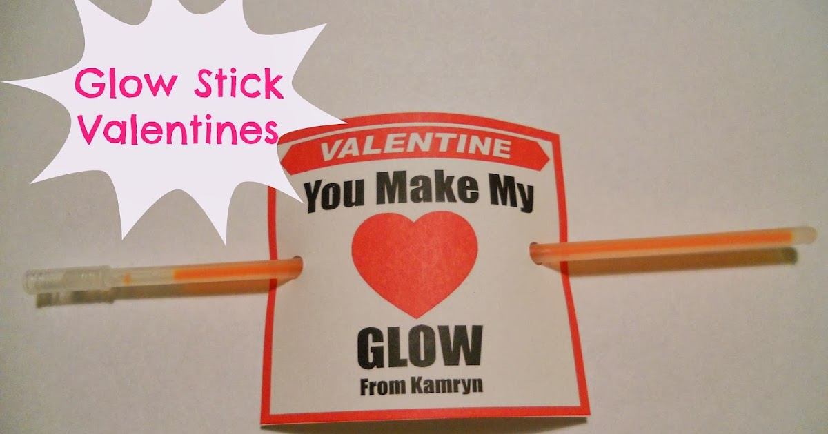 Glow Stick Valentine Candy Free Card for Kids and Free ... |Pinterest Glow Stick Valentines