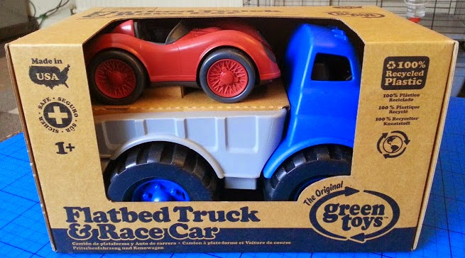 Green Toys Recycled Plastic Flatbed Truck with Race Car review age 12m+