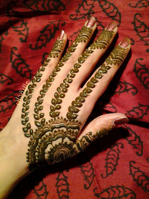 Khaleeji Mehndi Designs For Back Hands Images And Photo
