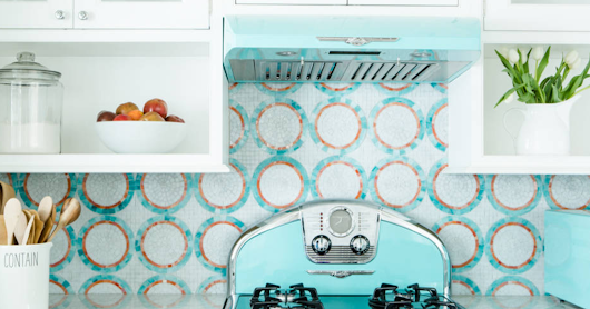 White Kitchens With A Retro Pop