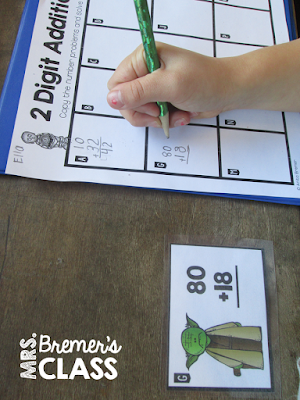 FREE double digit addition Scoot activity
