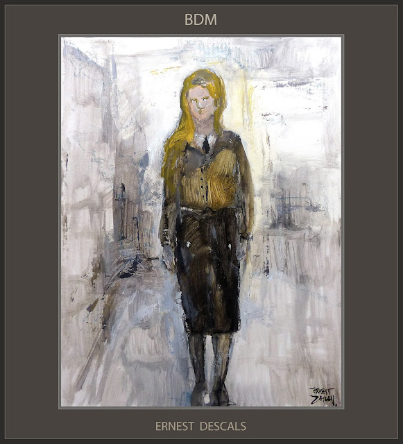 BDM-ARTE-PINTURA-CHICAS-III REICH-ALEMANIA-HISTORIA-PINTURAS-HISTORICAS-ART-GERMANY-WOMAN-GIRLS-HISTORY-ARTISTA-PINTOR-ERNEST DESCALS-