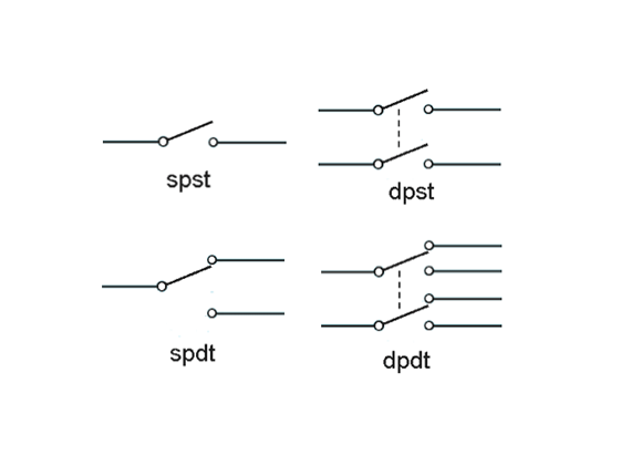 SPDT DTDT footswitch schematic